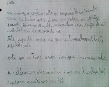Carta niño bullying