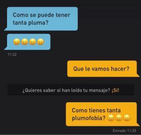 Plumofobia en Grindr (Foto por @Nononseguracoach)